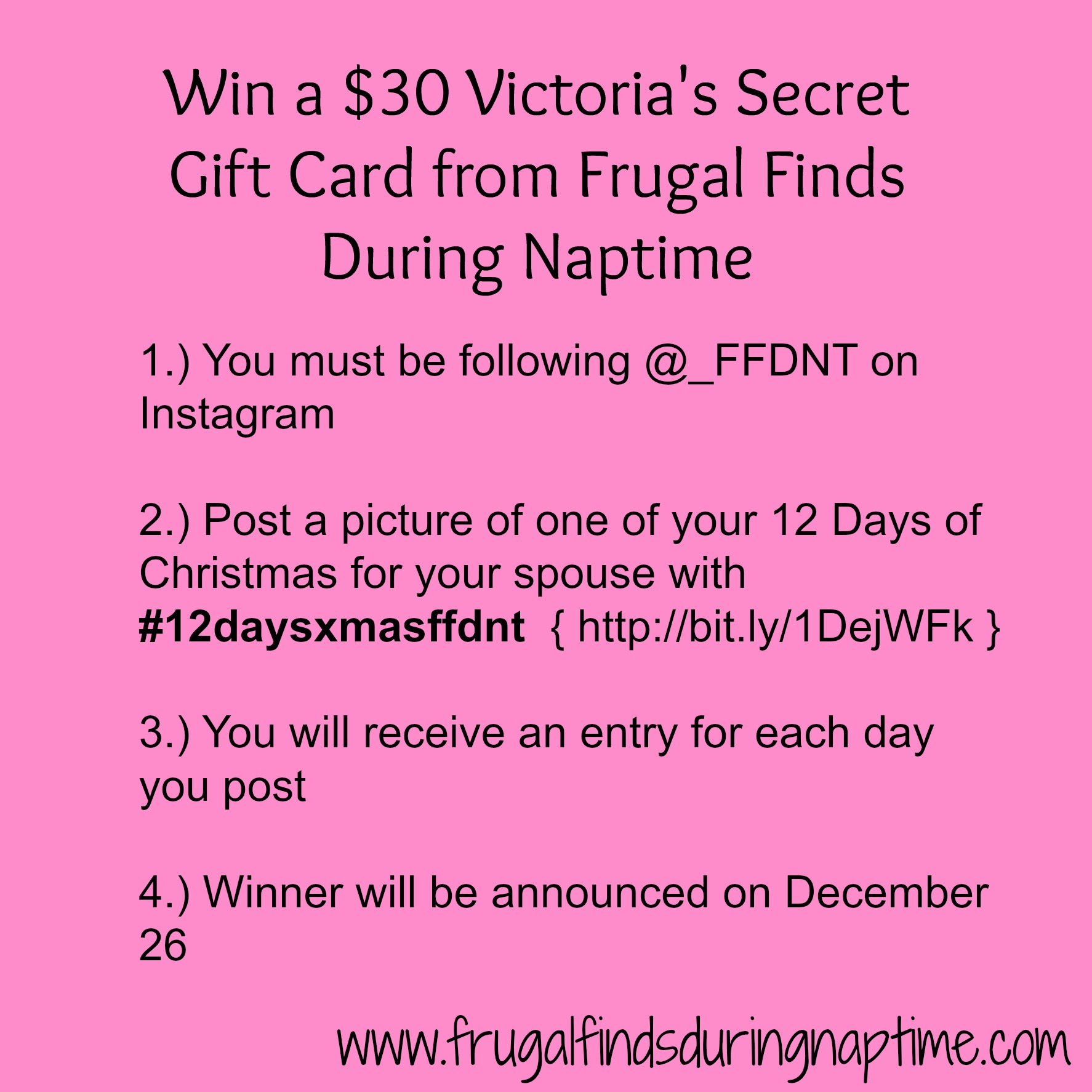 Giveaway:: Win a $30 Victoria's Secret Gift Card - Frugal Finds ...